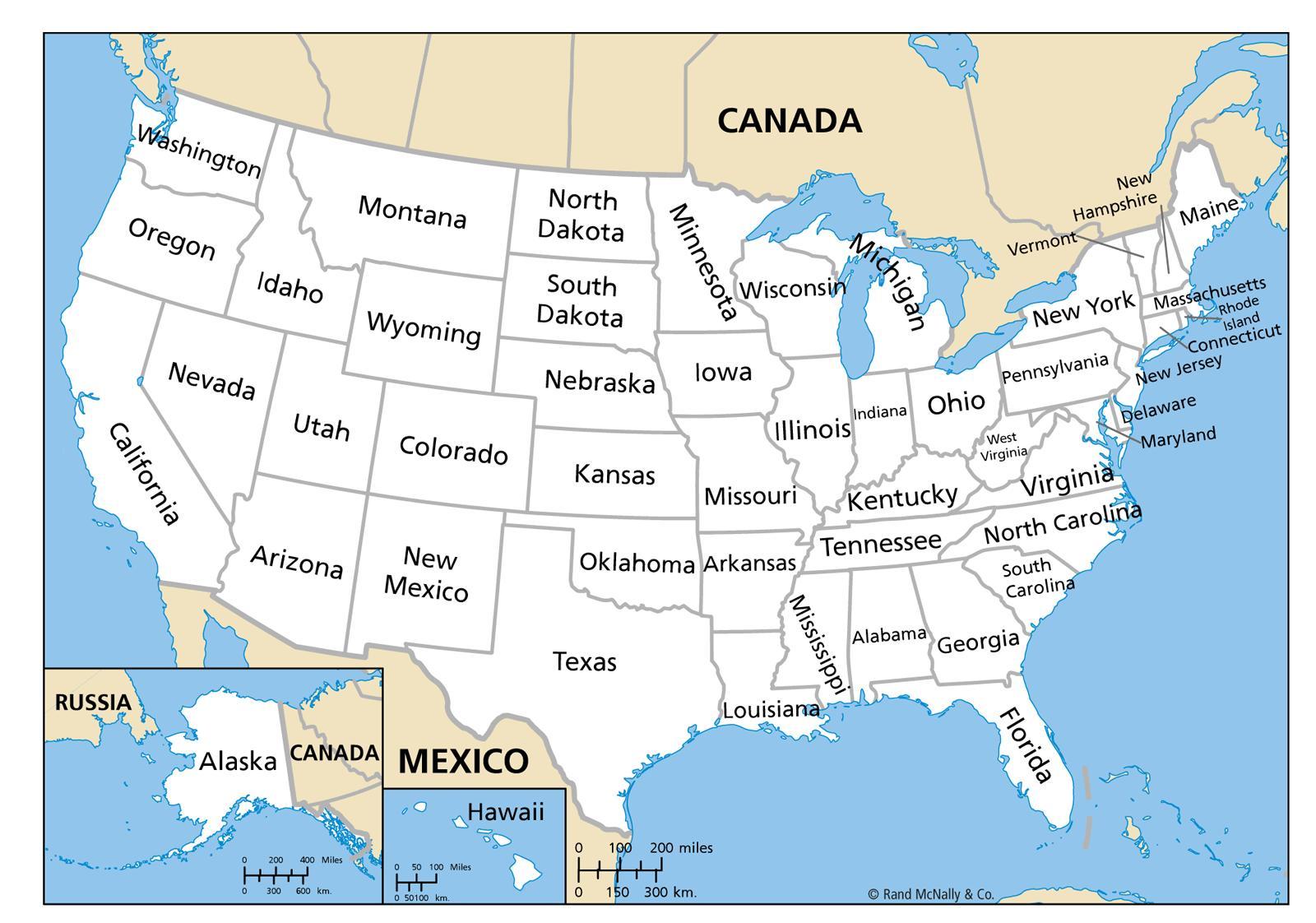 Harta De Statele Unite Ale Americii Cu Statele O Hartă A